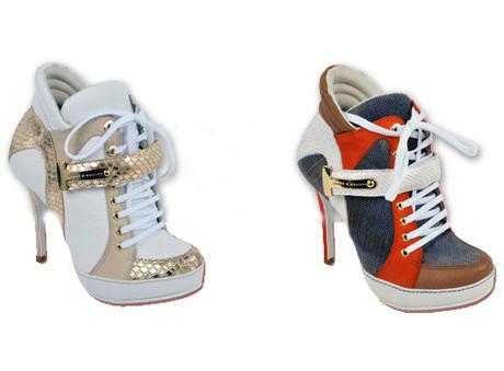 492697 Sneaker de salto fino. Sneakers com salto, onde encontrar