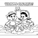 493010 Turma da Mônica colorir 150x150 Volta às aulas desenhos da turma da Mônica para colorir