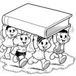 493010 Turma da Mônica colorir 3 150x150 Volta às aulas desenhos da turma da Mônica para colorir