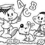 493010 Turma da Mônica colorir 8 150x150 Volta às aulas desenhos da turma da Mônica para colorir
