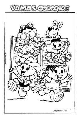 493010 Turma da Mônica colorir 9 Volta às aulas desenhos da turma da Mônica para colorir
