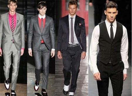 493793 Ternos e gravatas no modelo slim ficam ótimos Roupas para homens baixinhos: dicas