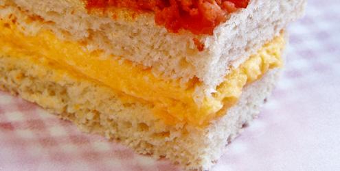 494840 Sanduíche bicolor Lanches saudáveis para volta às aulas