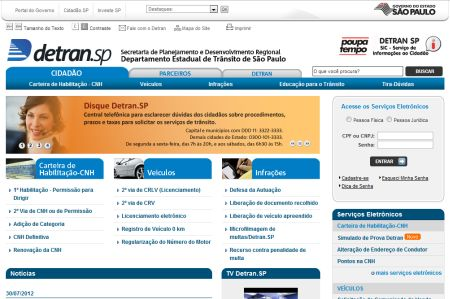 495252 detran servicos online sp 1 Detran serviços online SP