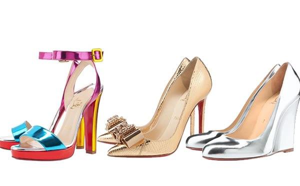 496096 As cores metalizadas são tendência Tendências de calçados para o verão 2013