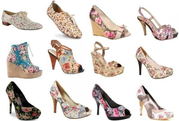 496096 As estampas florais continuam em alta. Tendências de calçados para o verão 2013