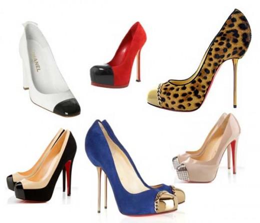 496096 Os calçados cap toe continuam em alta Tendências de calçados para o verão 2013