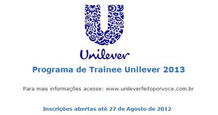 496404 programa de trainee unilever 2013 Programa de trainee Unilever 2013