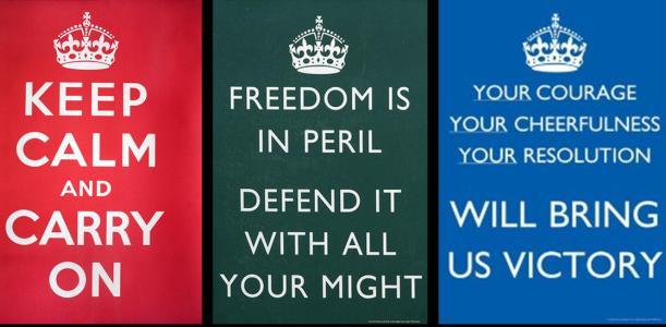 497261 Cartazes originais criados durante a II Guerra Mundial. Melhores imagens Keep Calm para Facebook