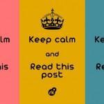 497261 Fique calmo e leia esse post. 150x150 Melhores imagens Keep Calm para Facebook
