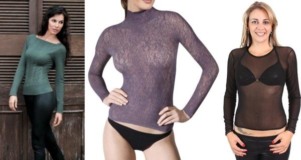 497988 As blusas segunda pele são fundamentais em todos os guarda roupas. Blusa segunda pele   como usar