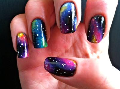 498203 498203 Galaxy nails como fazer passo a passo.1 Galaxy nails: como fazer passo a passo