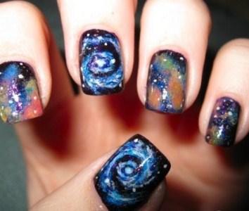 498203 Galaxy nails como fazer passo a passo.5 Galaxy nails: como fazer passo a passo
