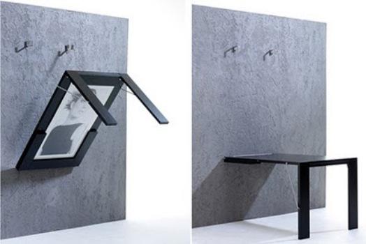 Mesa Em Parede ~ Mesa dobrável de parede u2013 modelos, dicas