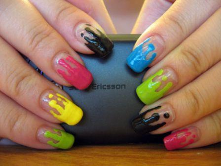 499509 As unhas em Dripped Nail são as tendências da moda atual para os esmaltes e unhas Fotodivulgação. Como fazer Unhas Dripped Nail