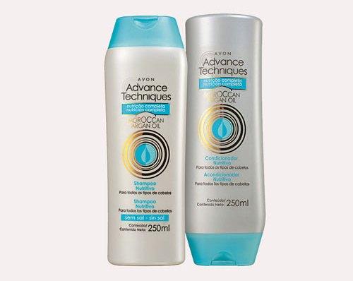 499525 499525 O shampoo e condicionador com óleo de argan garantem mais brilho e saúde aos cabelos Fotodivulgação. Shampoo e condicionador com óleo de Argan Avon