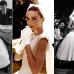 499709 Audrey Hepburn escolhei um Dior para o musical Cinderela em Paris. 150x150 Vestidos de noiva dos filmes: fotos