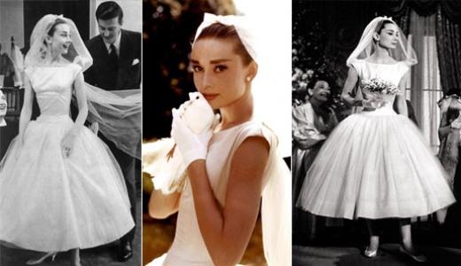 499709 Audrey Hepburn escolhei um Dior para o musical Cinderela em Paris. Vestidos de noiva dos filmes: fotos