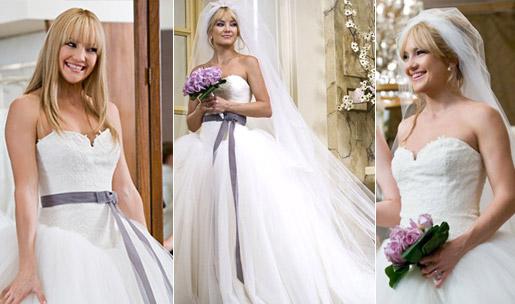 499709 Kate Hudson arrasou com um modelo Vera Wang. Vestidos de noiva dos filmes: fotos