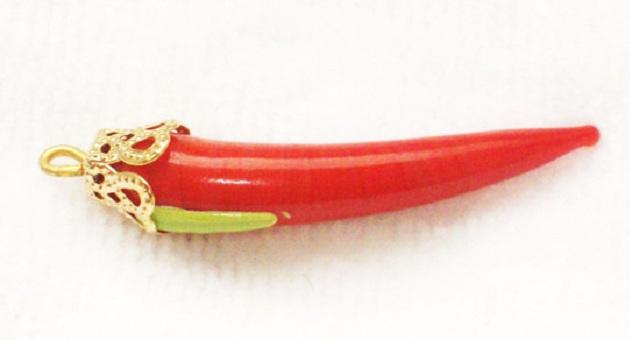 500325 pingente de pimenta vermelha em murano Pingentes e joias para dar sorte: quais são