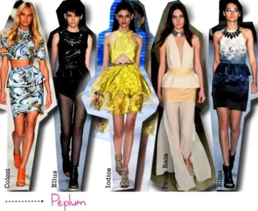 500465 Modelos Peplum são femininos e sofisticados. 10 tendências para o verão 2013