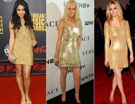 501491 Os vestidos dourados são excelentes para ocasiões noturnas Fotodivulgação. Roupas douradas: como usar