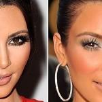 501712 As cores estão corretas mas o excesso de base na maquiagem de Kim Kardashian deixou sua pele plastificada. 150x150 Famosas, erros na maquiagem
