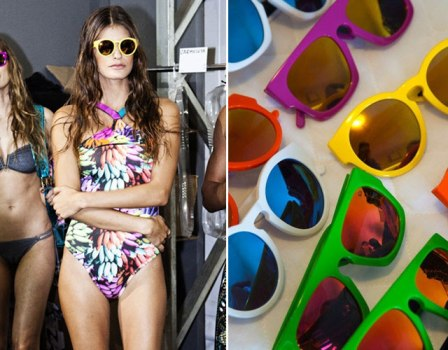 502461 Os óculos de sol coloridos são ótimas apostas para o verão 2013 Fotodivulgação. Óculos de sol feminino verão 2013