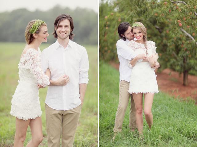 504006 00Vestidos de noiva para casamento no campofotos Vestidos de noiva para casamento no campo: fotos