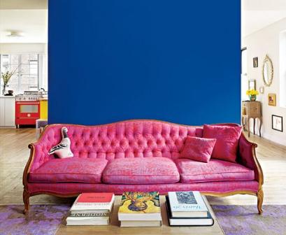 504607 O azul pode ser facilmente combinado com o tom rosa. Como combinar azul com outras cores