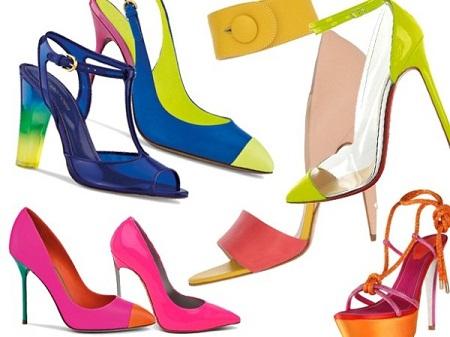 504816 Os calçados em cores neon é forte tendência. Sandálias Moda 2013: Modelos, fotos, onde encontrar