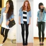 505580 A camisa jeans pode ser usada com calça legging Fotodivulgação. 150x150 Camisa jeans feminina: como usar, dicas