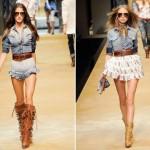 505580 As camisas femininas caem muito bem com saias de babado Fotodivulgação. 150x150 Camisa jeans feminina: como usar, dicas