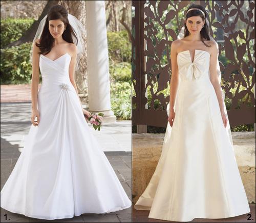 506699 Os vestidos de noiva com decotes em V são os mais indicados para as baixinhas Fotodivulgação. Vestido de noiva para baixinhas: como escolher