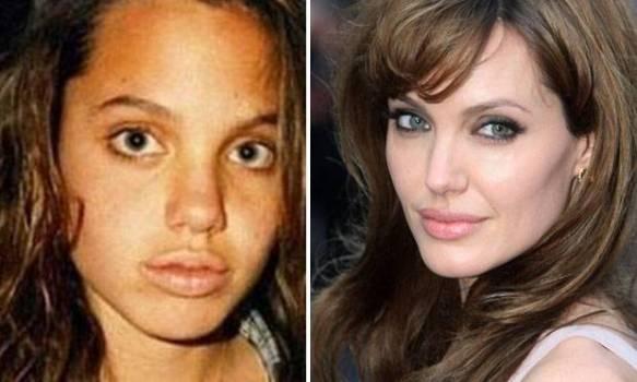 506711 A atriz famosíssima Angelina Jolie está muito mais bonita após a fama Fotodivulgação. Celebridades antes da fama: fotos