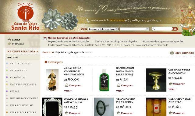 506877 Casa de Velas Santa Rita Artigos de umbanda: onde comprar online