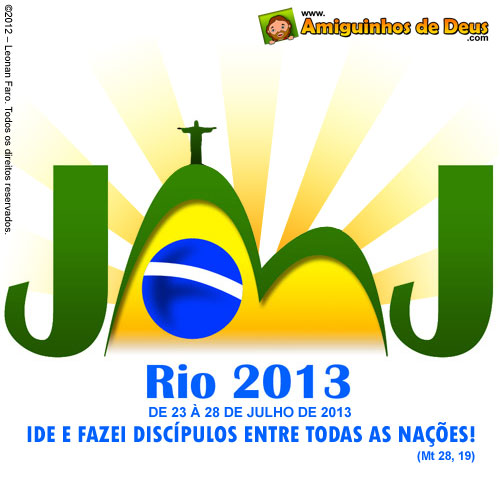 507163 jornada Mundial da Juventude JMJ Rio 2013 Jornada Mundial da Juventude JMJ Rio 2013: pacotes, inscrições