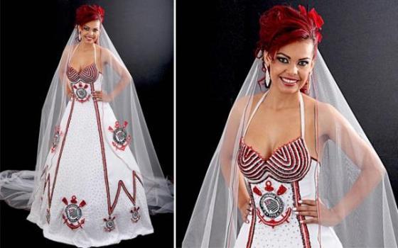 507643 Vestidos de noiva de times de futebol Vestidos de noiva de times de futebol