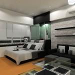 508147 Decoração de quarto preto e branco dicas fotos 22 150x150 Decoração de quarto preto e branco: dicas, fotos