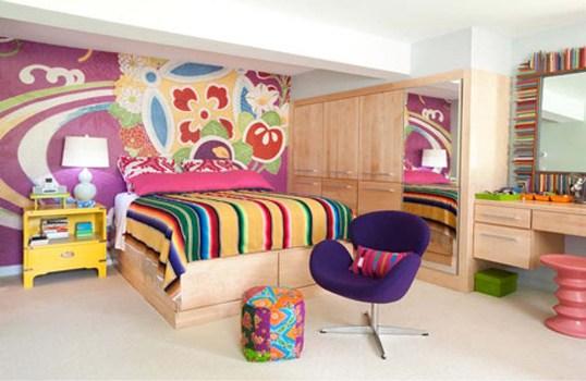 508177 Decoração de quarto colorido para jovens fotos 9 Decoração de quarto colorido para jovens: fotos
