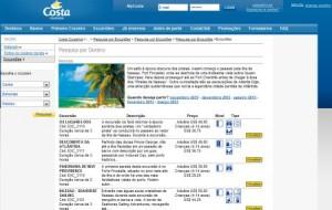 Excursões Costa Cruzeiro 2012