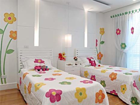 508813 Decoração de quarto para duas meninas Decoração de quarto para duas meninas
