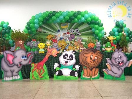 512596 decora%C3%A7%C3%A3o de festa tema zoo 2 Decoração de festa infantil, tema zoológico: fotos