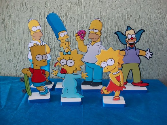 512672 Decoração de aniversário tema Os Simpsons 01 Decoração de aniversário tema   Os Simpsons