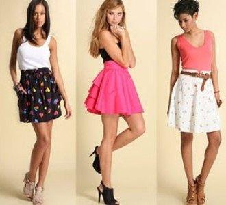 513142 Modelos de saias com cintura alta verão 2013.5 Modelos de saias com cintura alta verão 2013