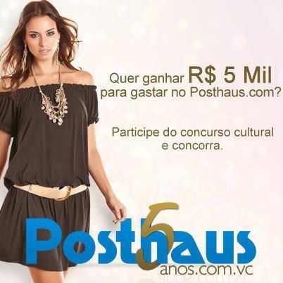 513551 Concurso cultural posthaus 5 anos com você1 Concurso Cultural Posthaus 5 anos com você
