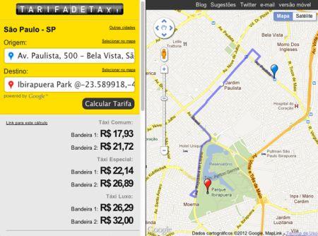 513748 site que permite estimar preco de uma corrida de taxi 4 Site que permite estimar preço de uma corrida de táxi