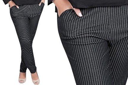 515466 Aposte no uso de calças risca de giz Foto divulgação. Calça risca de giz: dicas, como usar