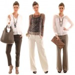 515466 Os blusas mais leves são as mais indicadas para usar com calça risca de giz Foto divulgação. 150x150 Calça risca de giz: dicas, como usar