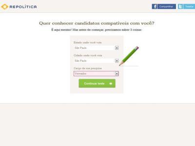 516855 repolitica site que ajuda a encontrar o candidato ideal 1 Repolítica: site que ajuda a encontrar o candidato ideal